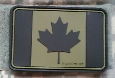 "OD  PVC PATCH Maple Leaf canada flag 7.5 x 5cm 3 x 2"" 3D velcro rubber canadian"