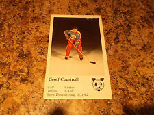 1981-82 VICTORIA COUGARS GEOFF COURTNALL WHL PLAYER CARD