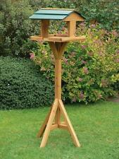 TRADITIONAL WOODEN BIRD TABLE FEEDER FEEDING STATION FREE STANDING STAND OUTDOOR