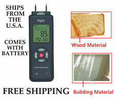 DIGITAL WOOD MOISTURE METER & BUILDING MATERIAL SHIPS FREE FROM U.S.A.