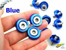 10PC Blue M6x20MM Aluminum Fender Bumper Washers with Bolts DRESS UP for honda