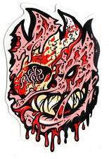 Spitfire Wheels - Fleshy Zombie Skateboard Sticker - Monster skate snow surf