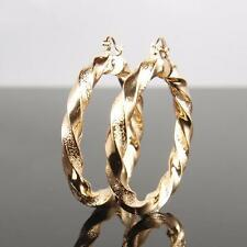 """9ct 9K """" Gold Filled """" 6 X 50mm LARGE Hoops Earring Valentine Xmas Gift E596g"""