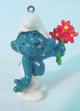 "Vintage Smurfs~    ""FOR YOU""   SMURF ~    Schleich Peyo~PVC Toy Figure 1980's~"