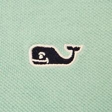 Large Vineyard Vines Pastel Green 100% Cotton Pique Polo Shirt with Whale Logo