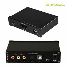 SMSL M6 HIFI Audio Decoder 32Bit/384KHz USB asynchronous DAC Amplifier Black