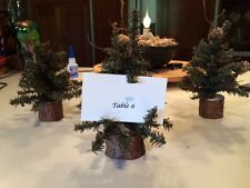 Artificial Christmas Table Top Dorm Train MINI Tree Pinecones Place Card Holder