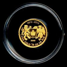 Fine Gold $10 Coin Canada - War of 1812- Low mintage- Sold out - PRETTY RARE