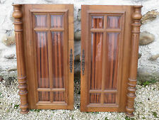 Ancienne paire de portes de placard buffet Henri 2 vitrées french antique doors