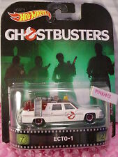 who ya gonna call?GHOSTBUSTERS ECTO-1☆White/burg;realrider☆2017 Hot Wheels Retro