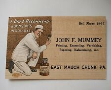 John F. Mummey EAST MAUCH CHUNK, PA Business Card painter graphic
