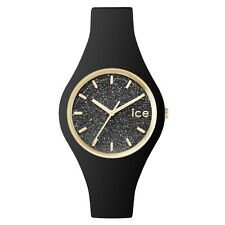 Ice-Watch 001349 Ladies Ice-Glitter Black Silicone Strap Small Watch RRP £79.95