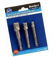 "BLUESPOT Socket Drill Attachment 1/4"" HEX Screwdriver Adaptor Set 1/4 3/8 1/2"""