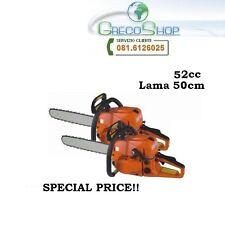 Doppia/2 pezzi Motosega/Troncarami 52cc lama 50cm - Offerta Limitata!!!