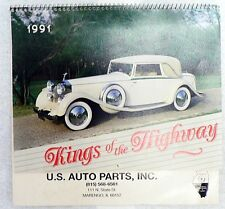 VINTAGE 1991 CALENDAR ADVERTISING U S AUTO PARTS, MARENGO, ILLINOIS
