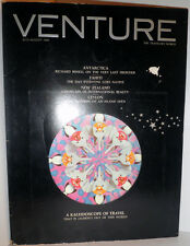 Venture Travel Magazine Jul-Aug 1968 Magic Motion Cover Antarctica Tahiti Ceylon
