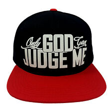 ONLY GOD CAN JUDGE ME BLACK/RED (FLOCK) Snapback Cap