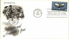 1965 USA Cover Stamp Issue Cooperation Year Cancel Stempel San Francisco CA FDC