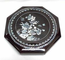 Korean Flower Jeol Pan Serving Tray, 9 Delicacies, Lacquer & Mother of Pearl