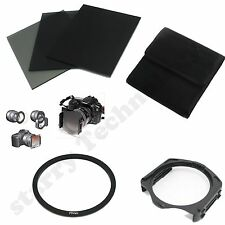 FULL ND2 4 8 filter+Pouch Case+77mm Adapter Ring+Holder for Cokin P Series kit