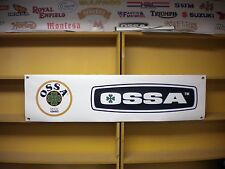 Ossa Trials workshop  garage banner, vintage twinshock, Explorer,Mar etc