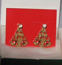 1990 Avon Convertable Christmas Tree Pierced Earrings NIB