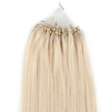 "24"" Loop Micro Ring Beads Tipped Remy Real Human Hair Extensions Blonde 50s 25g"