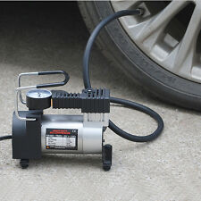 Quality Portable 12V Mini Pump Heavy Duty Air Compressor Tire Inflator Gauge
