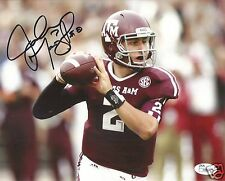 JOHNNY MANZIEL TEXAS A&M AGGIES SIGNED 8X10 PHOTO W/JSA COA #9