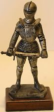 """Italy Depose 71 Medieval Knight 6"""" Statue Figurine w/sword Wood Base"""