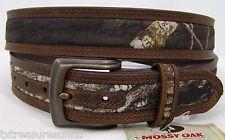 NOCONA belts men's western accessories mossy oak camo brown leather belt 46 NWT!