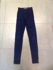 Topshop Joni Jeans Dark Blue Size 6 W25 L34