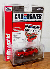 Auto World Car and Driver Die cast 2012 Ford Mustand Boss 302 RED 1/64