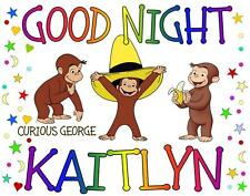 "CURIOUS GEORGE Personalized PILLOWCASE ""GOOD NIGHT"" Any NAME Super Soft"