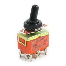DPDT Self Locking ON/ON 2 Position Toggle Switch 250V 15A w Cover