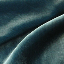 "Silk VELVET Fabric TEAL BLUE 9""x22"" remnant"
