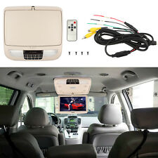 12 Inch Flip Down TFT LCD Monitor Car Roof Mounted Monitors Wide Screen Beige