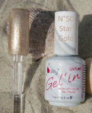 Gel'in soak off color gel polish n°50 Star gold 15ml sous UV/LED