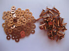 Copper hose saddlers rivets 10 Gauge x 3/4 with washers leather belt bag crafts