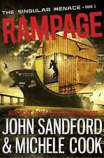 Rampage (The Singular Menace, 3), Cook, Michele, Sandford, John, Good Condition,