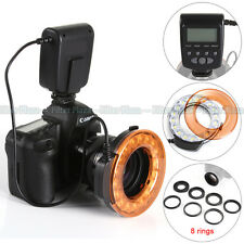 Meike MK-FC-110 LED Macro Flash Light+8 Ring For Canon EOS 760D 80D 7D II 5D III