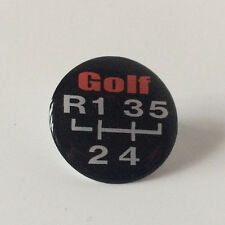 35MM GOLF 5 SPEED GEAR KNOB LEVER STICKER RESIN DOMED