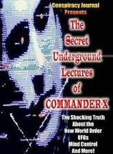 The Secret Underground Lectures Of Commander X, Conspiracy, on Plain DVD-R