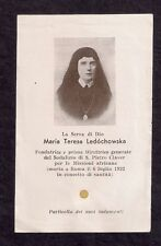 Holy Card with relic 2nd class (ex induments) Maria Teresa Ledóchowska