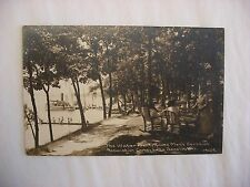 Real Photo Postcard RPPC Water Front YMCA Camp Lake Geneva Wisconsin WI #1201