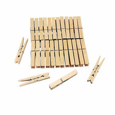 36Pcs WOODEN CLOTHES HANGING PEGS DRYING AIRER COIL WASHING LINE PEG BAG CLIP