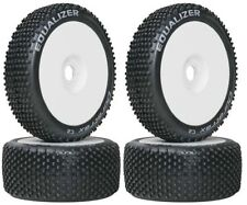 Duratrax DTXC3644 1/8 Equalizer Buggy Tires C2 Mounted on White Wheels (4) F / R