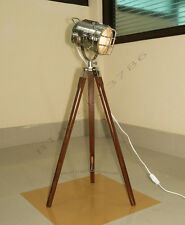 Vintage theater industrial Tripod Floor table lamp modern nautical search light
