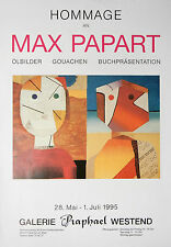 "Max Papart ""Hommage"" Original Exhibition Poster 1995"