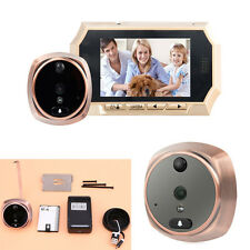 "4.3"" LCD 160 Degree Peephole Viewer Door Eye Doorbell +IR Camera Home Security"